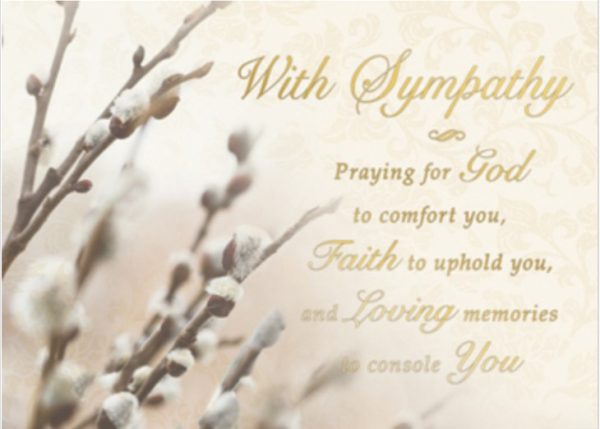 Sympathy Card MA 885